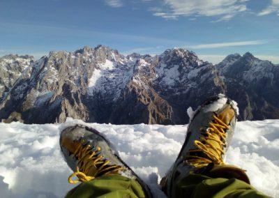 Contemplando el Macizo Central de Picos de Europa